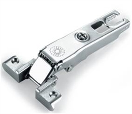 Concealed hinge clip, Fer, for narrow aluminium frame door, full overlaymounting, with mounting plate