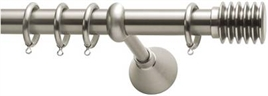 Curtain Rods Africa/America L200 Φ25 mm mat nikel
