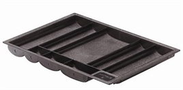 Tray insert, With rim, with 8 compartments, installation width: 392 mm
