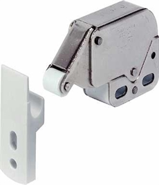 Mini latch white nikel