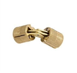 Hinge for concealed mounting Φ10, brass