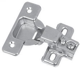 Concealed hinge clip with mounting plate