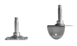Plate for furniture castors