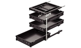 Equipment set, With 3 system drawers, Internal installation h 505 mm, internal installation d 530 mm