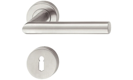 Door handle with round esc plate staineless steel