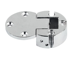 Flap hinge, Plano-Medial, zinc alloy, nickel plated