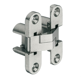 Hinge, Vici, for wood thicknesses from 19 mm, for concealed mounting, nickel plated